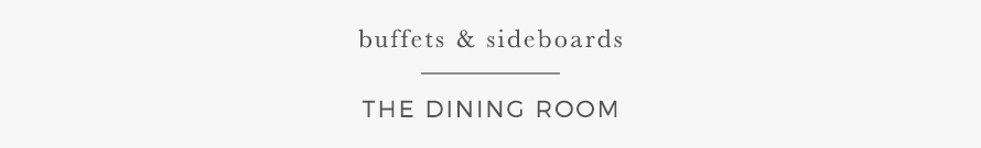 buffets & sideboards