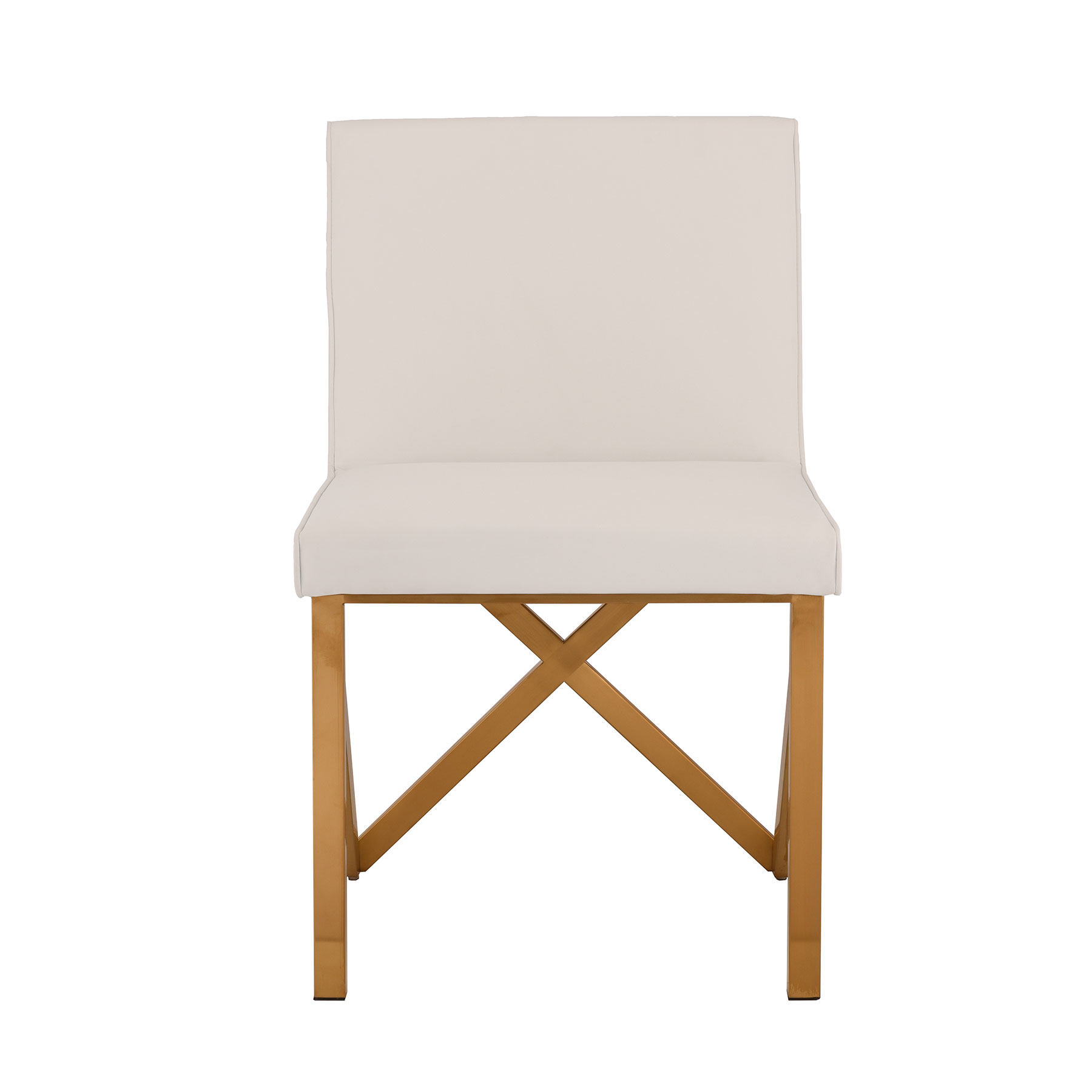Talbot Dining Chair   White / Gold   Contemporary | Nuevo HGTB500