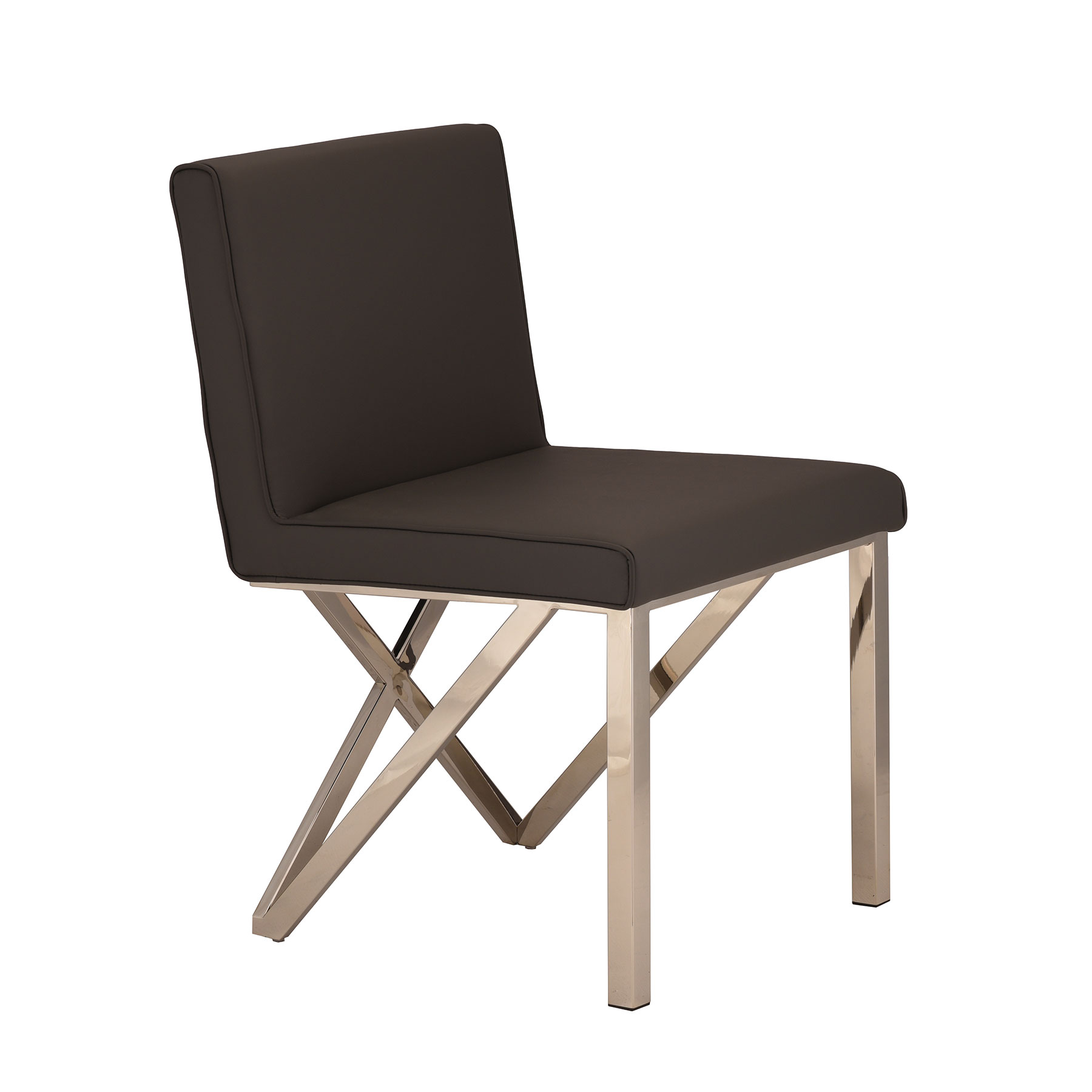 Talbot Dining Chair   Black / Steel   Contemporary | Nuevo HGTB521