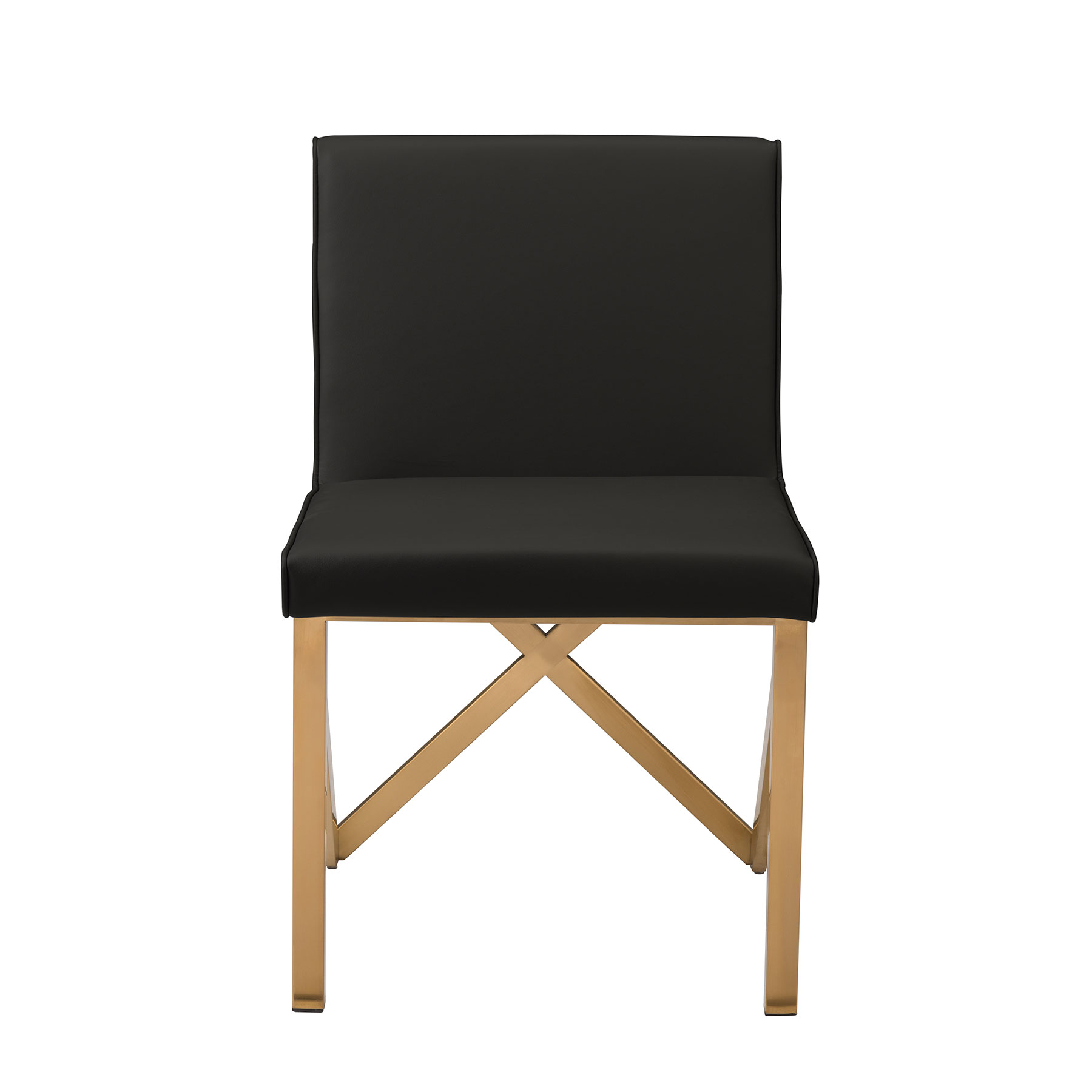 Talbot Dining Chair   Black / Gold   Contemporary | Nuevo HGTB522