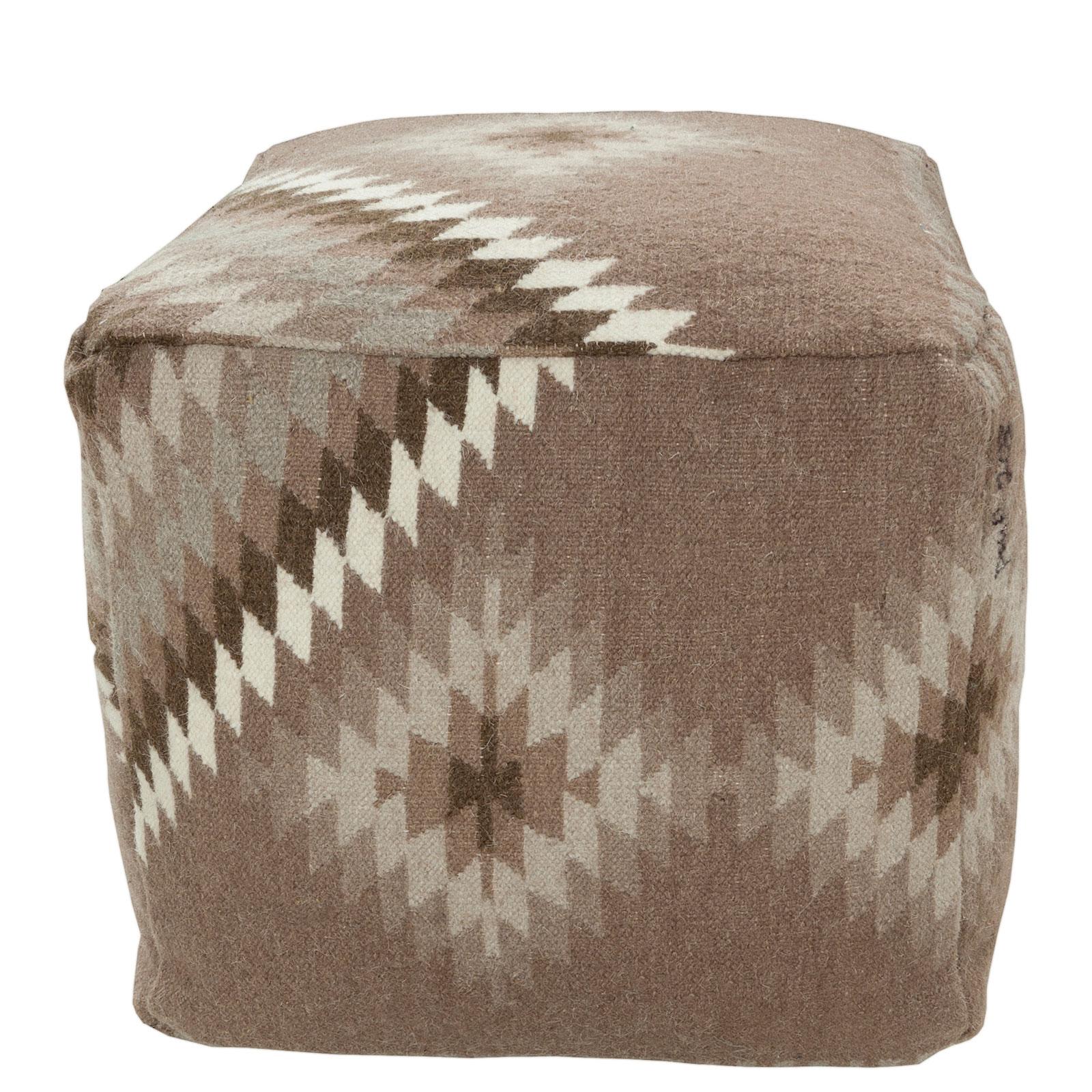 Marvelous Southwest Cube Pouf Grey Creativecarmelina Interior Chair Design Creativecarmelinacom